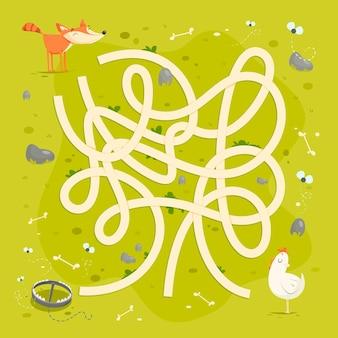 Labyrinth für kinder vorlage