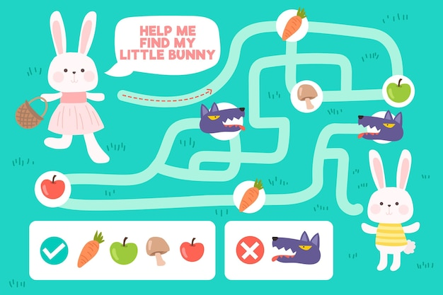 Labyrinth für kinderillustration