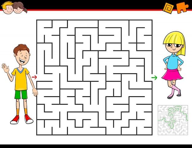 Labyrinth-labyrinth-spiel für kinder