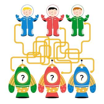 Labyrinth, logik-spiel für kinder
