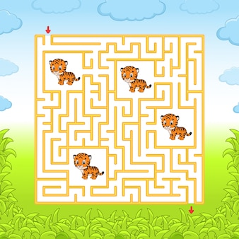 Labyrinth mit tigern