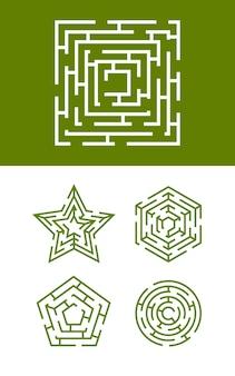 Labyrinth sammlung illustration