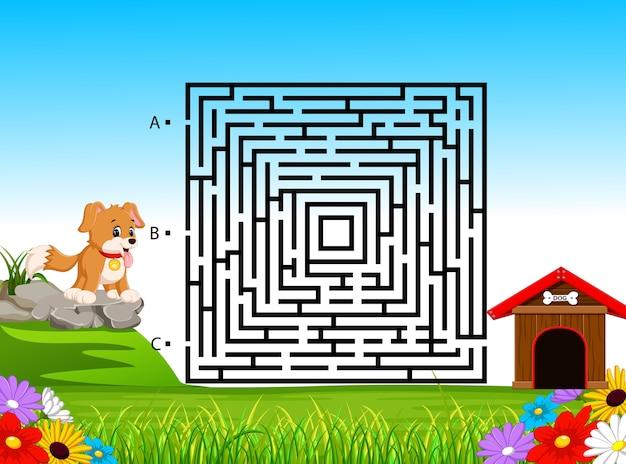 Labyrinth-spiel für kinder im vorschulalter
