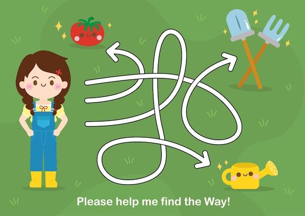 Labyrinth-spiel für kinder puzzle