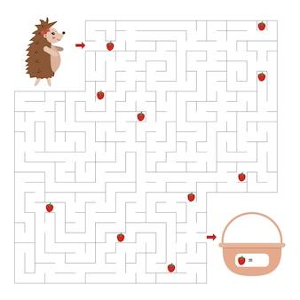 Labyrinth-spiel für kinder