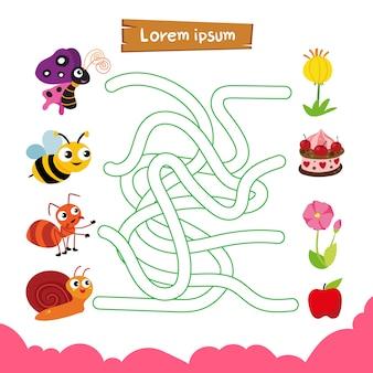 Labyrinth-spiel-vektor-design