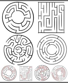 Labyrinthe oder labyrinthe diagramme festgelegt