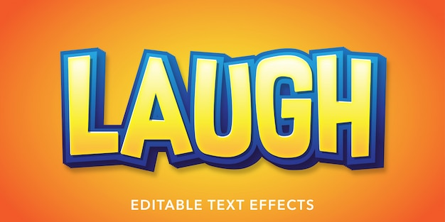 Lachen bearbeitbare textstil-effekte