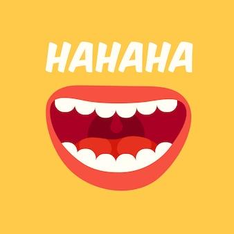 Lachender mund