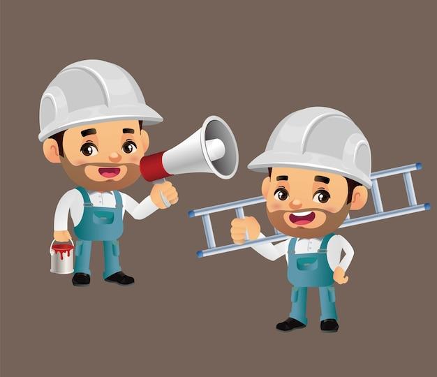 Lackierdienstkomposition mit handwerker