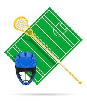 Lacrosse-feld.