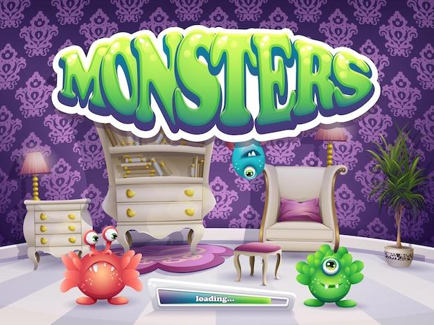 Ladebildschirm für spiel monster