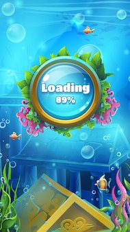 Ladebildschirm für unterwasserspiele