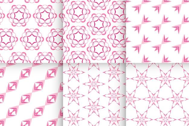 Laden sie das nahtlose muster des rosa babys ein, vorlage im flachen design, karte, geburtsparty, sammelalbum