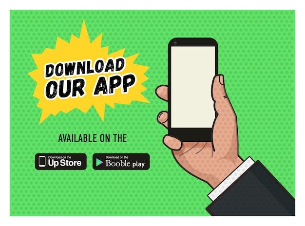 Laden sie die seite der mobile messaging app herunter