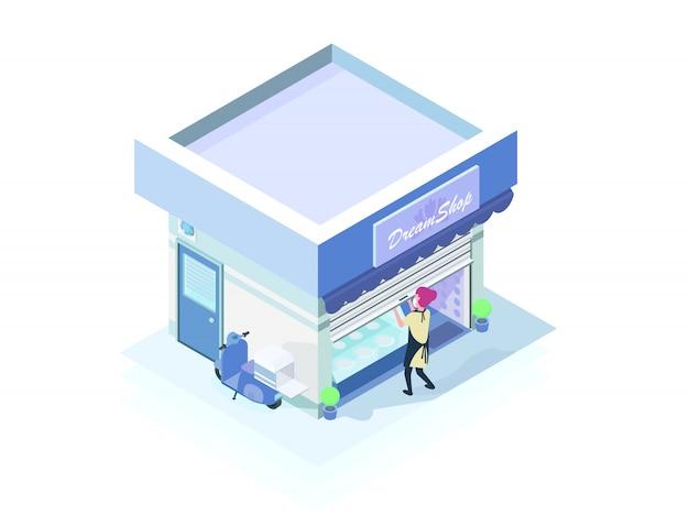 Ladenbesitzerin öffnet nach sperrung wieder
