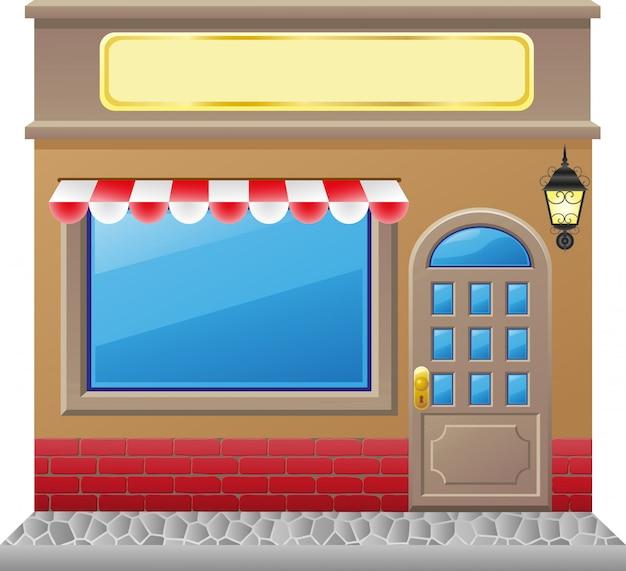 Ladenfassade mit vitrine