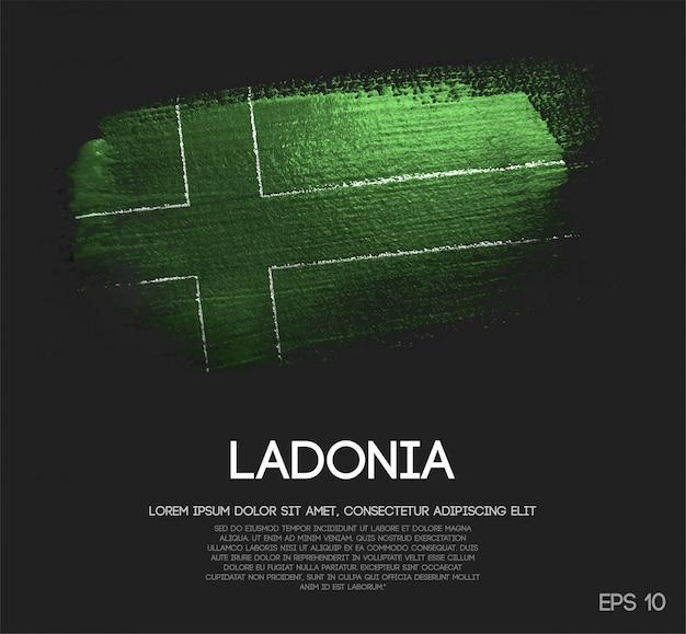 Ladonia flagge aus glitzer sparkle pinsel farbe