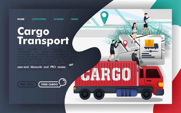 Ladung transport-vektor-illustration