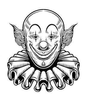 Lächeln-clown chicano vector illustration