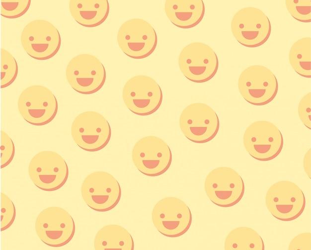 Lächeln gekritzelillustration