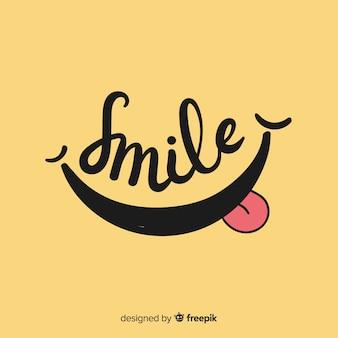 Lächeln sie einfachen hintergrund