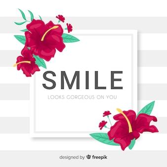 Lächeln sieht wunderschön auf dich aus. zitat schriftzug