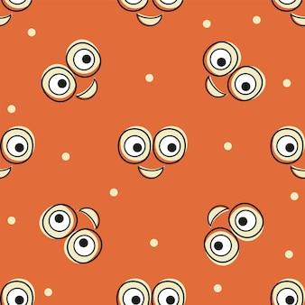 Lächeln-vektor-muster-hintergrund. textur-doodle-kunst. lustige einfache illustration. für druck, posterdekor, textil, papier, karteneinladung