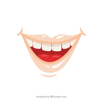Lächelnden mund