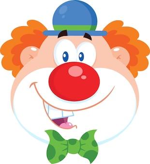 Lächelnder clowngesicht-cartoon.