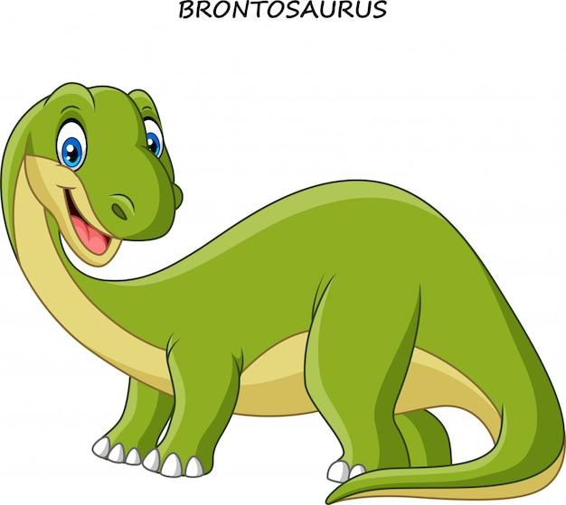 Lächelnder dinosaurier der karikatur