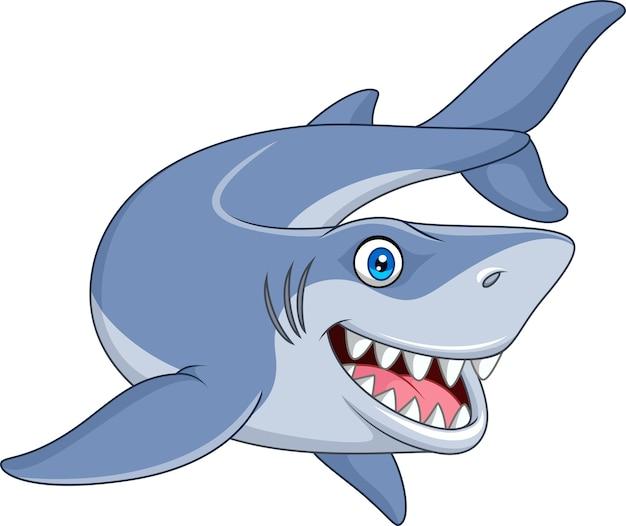 Lächelnder haifisch der karikatur