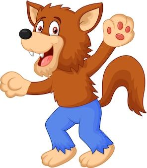 Lächelnder karikaturwerwolf