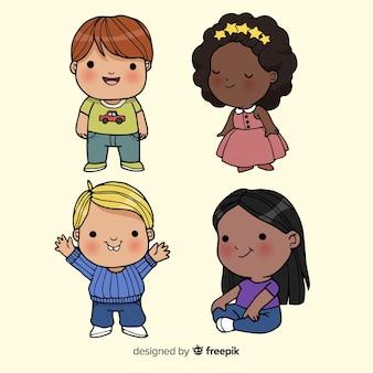 Lächelnder kindersatz der kinder tages