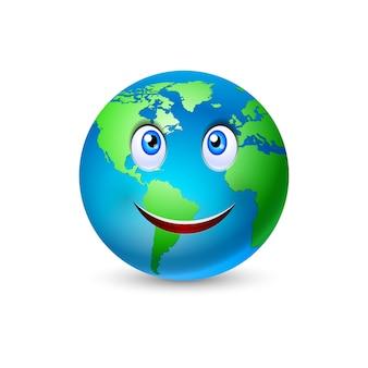 Lächelnder planet erde