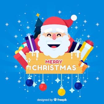 Lächelnder weihnachtsmann-weihnachtshintergrund
