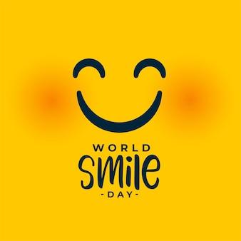 Lächelndes gesicht für die veranstaltung zum weltlächeln-tag