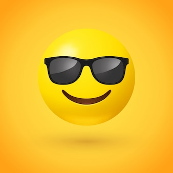 Lächelndes gesicht mit sonnenbrille emoji