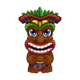 Lächelndes hawaiisches tiki totem.
