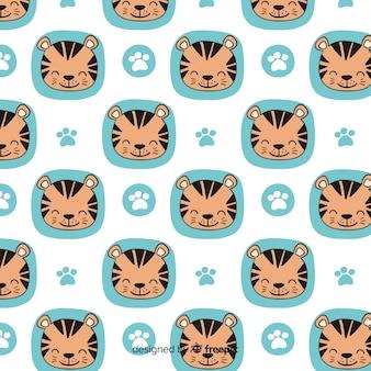 Lächelndes tigermuster