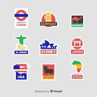 Länder aufkleber set