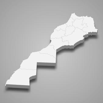 Länderkarte mit grenzen der regionen
