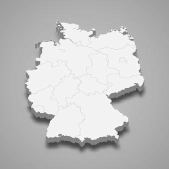Länderkarte mit grenzen