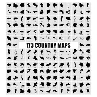 Länderkarten sammlung
