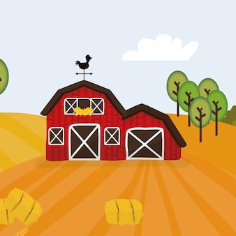 Ländliche und landwirtschaftliche symbole