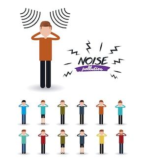 Lärmbelästigung design