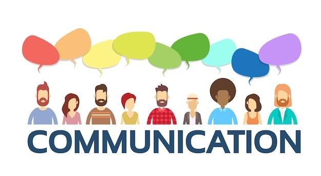 Lässige leute gruppen chat blase kommunikation soziales netzwerk