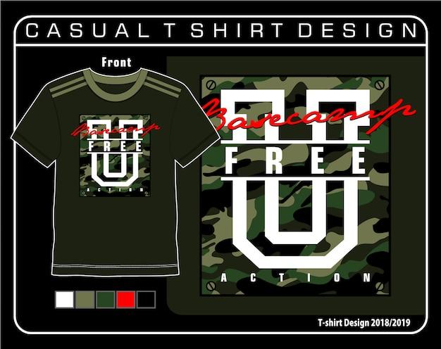 Lässige t-shirt-grafik
