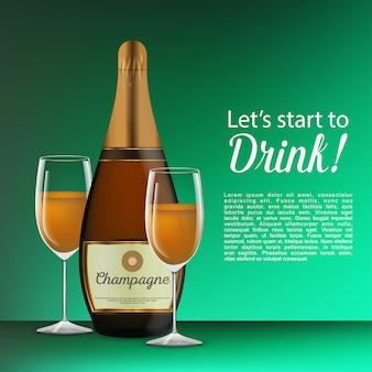 Lässt beginnen, feiervorlage zu trinken