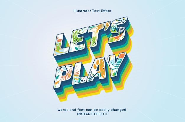 Lässt texteffekt mit handflächenmuster spielen